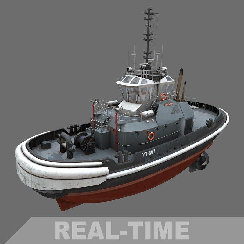 3d z-tech 4500 tug boat