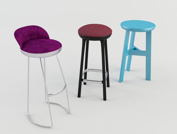stool bars taverns 3 3d model
