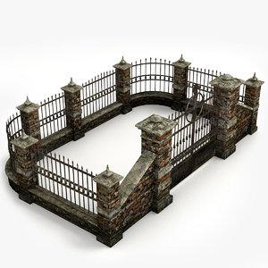graveyard fence ready obj