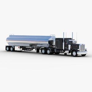 3d model tank truck tanker