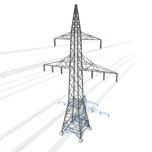 3d electrical tower model