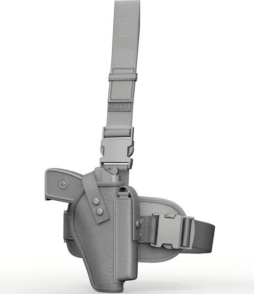 tactical holsters 3d obj