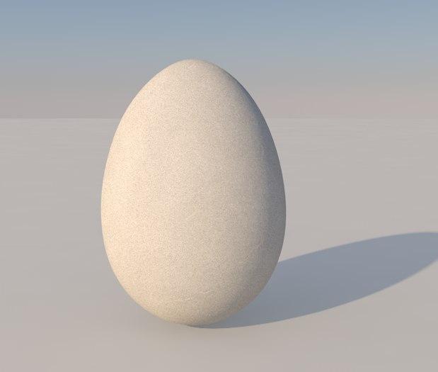 egg breakfast food 3d 3ds