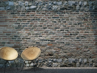 Brick Wall and Stone (300 x 169,45 cm) Medium