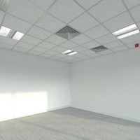 suspended ceiling office interior 3ds