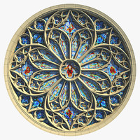 Round Gothic Rose Window