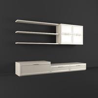 realistic wall unit 3d model