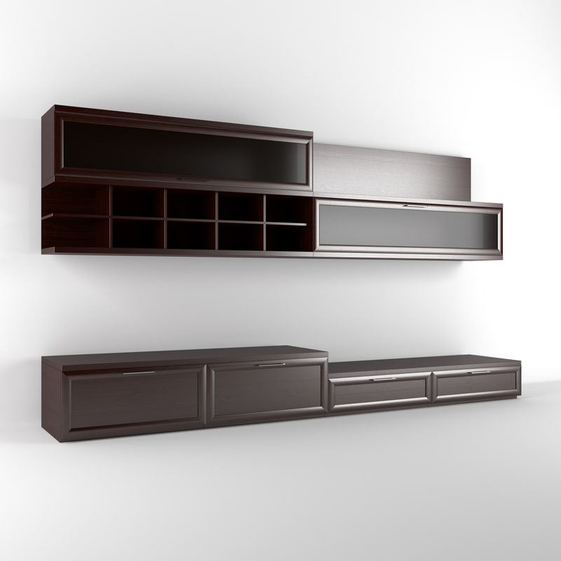 realistic wall unit 3d max