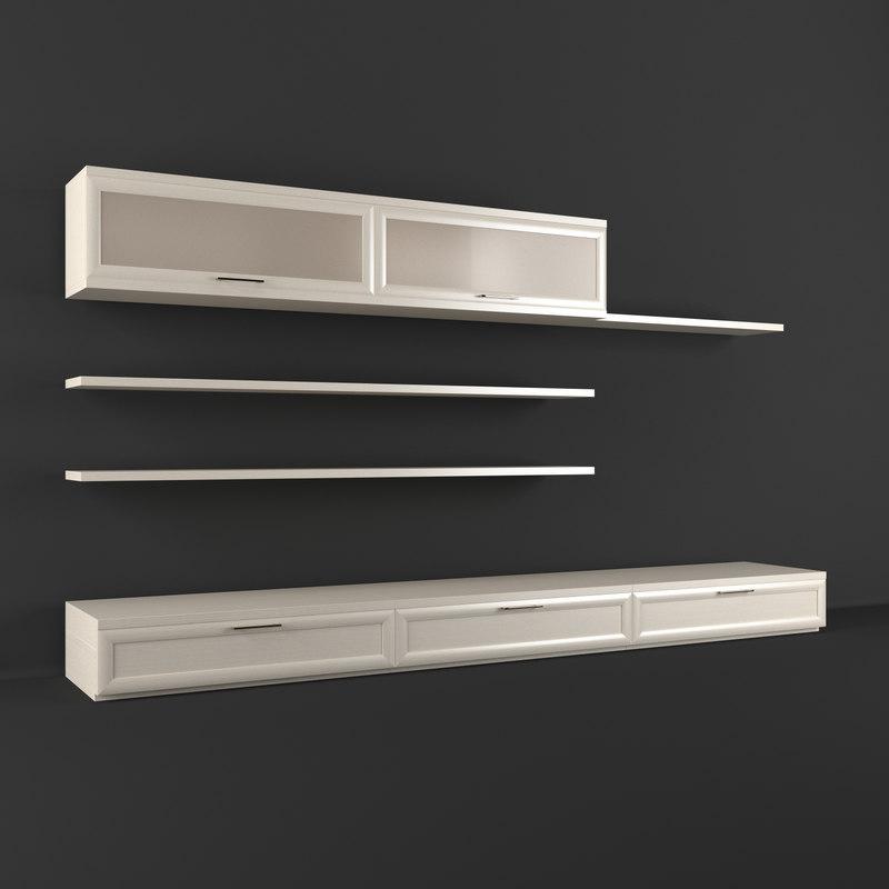 3d model realistic wall unit