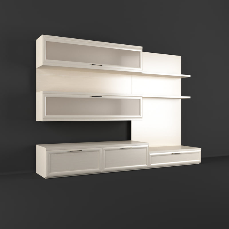 realistic wall unit 3d model