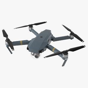 dji mavic pro drone 3d model