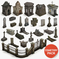 Lowpoly Cemetery Pack
