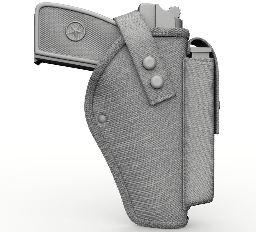 tactical holsters pistol 3d obj