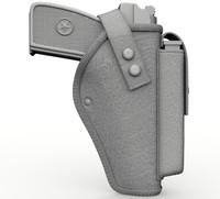 tactical holsters pistol 3d obj