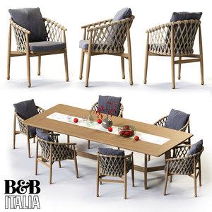 b ginestra rectangular table max