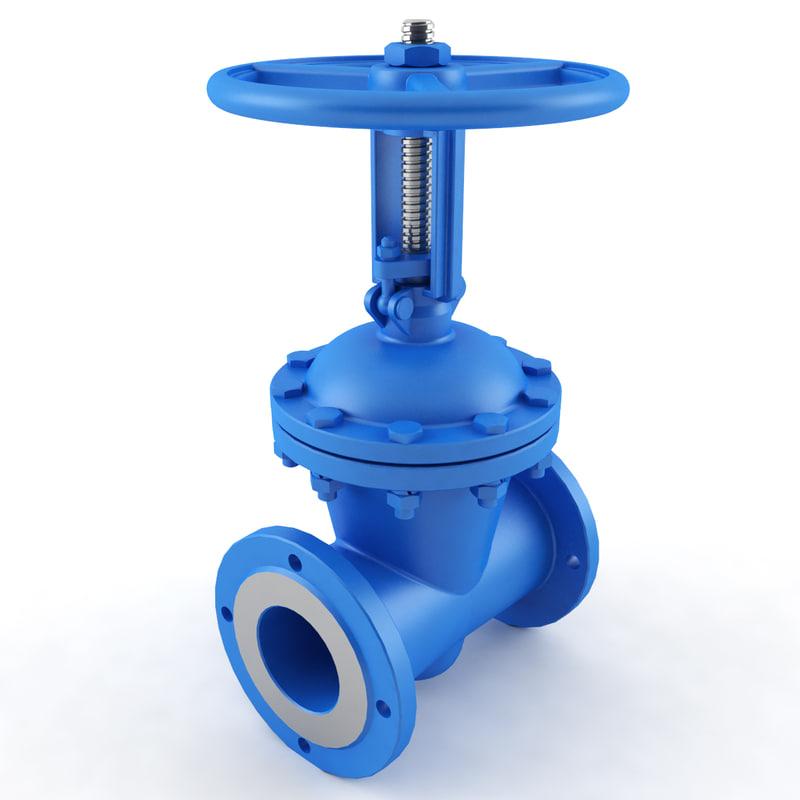3d model valve tube