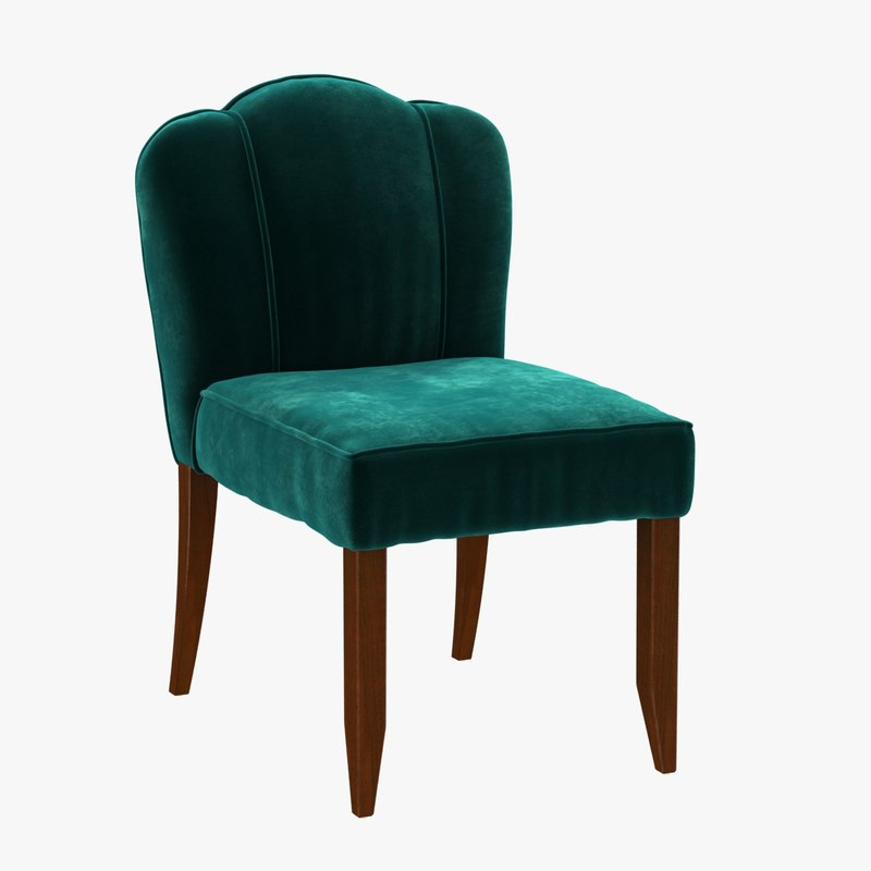 chair simplified scallop 3d max