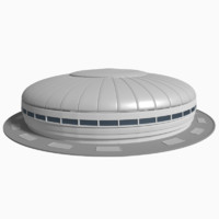 basketball stadium 3d blend