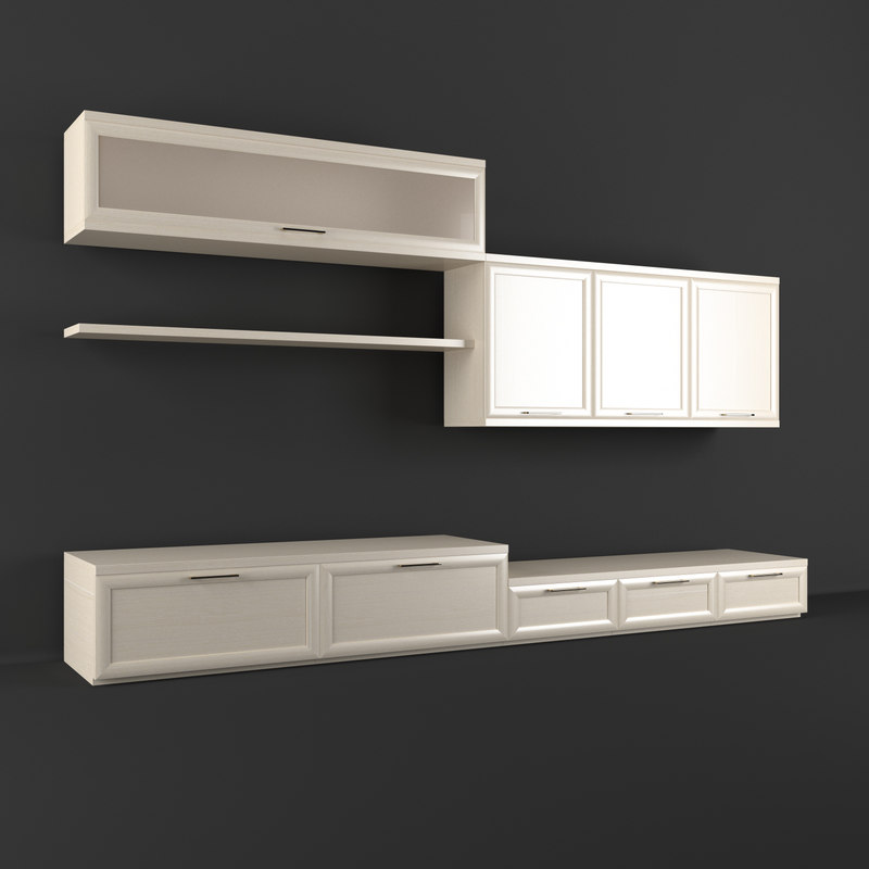 3d model of realistic wall unit