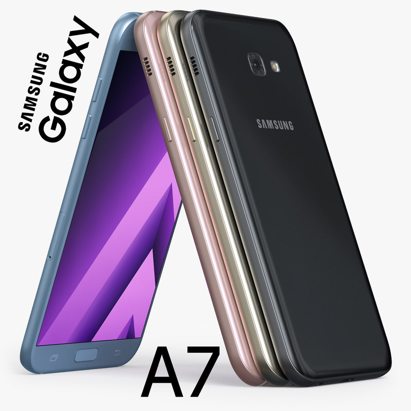 3d model samsung galaxy a7 2017
