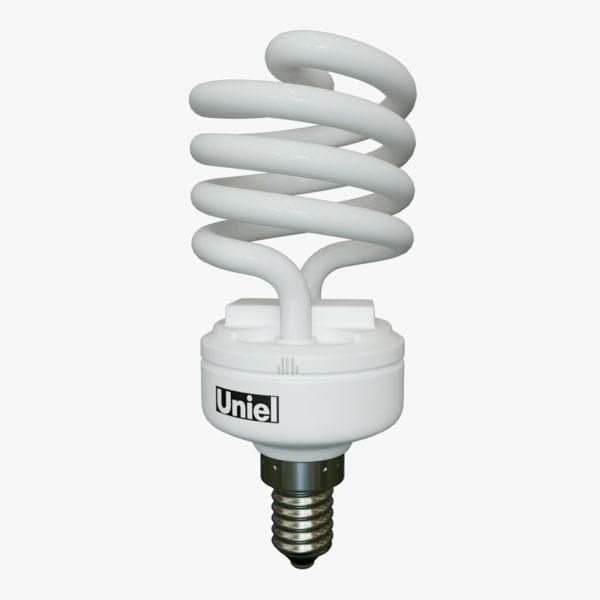 3d energy lightbulb lighting model