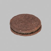 oreo biscuit 3d model