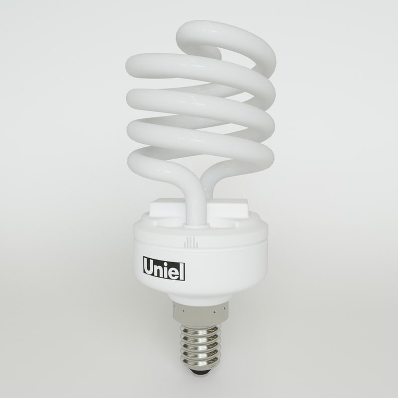 3d energy lightbulb lighting model