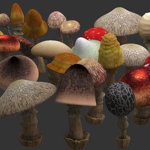 mushrooms shroom 3d max