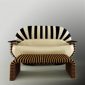 3d model luxor sofa