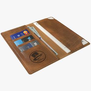 3d realistic wallet