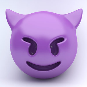 3d model emojis demons