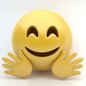 3d emoji hugging
