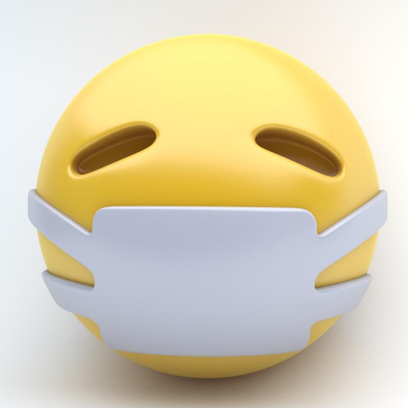 3d emoji medical mask