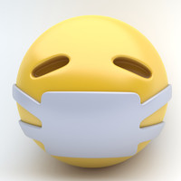 3d emoji medical mask