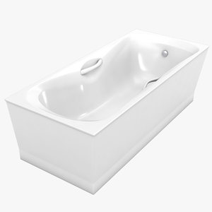 3d model of bathtube sonata