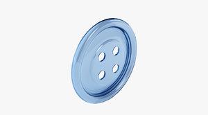 button shirt 3d c4d