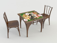 3d model table chairs taverns bars