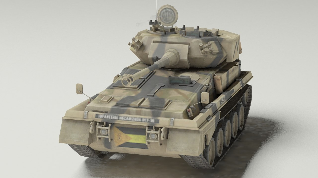 fv101 scorpion army tank 3d model