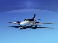 propellers cessna 404 titan 3d 3ds