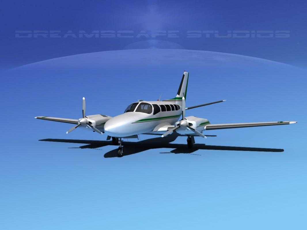 propellers cessna 404 titan 3d ma
