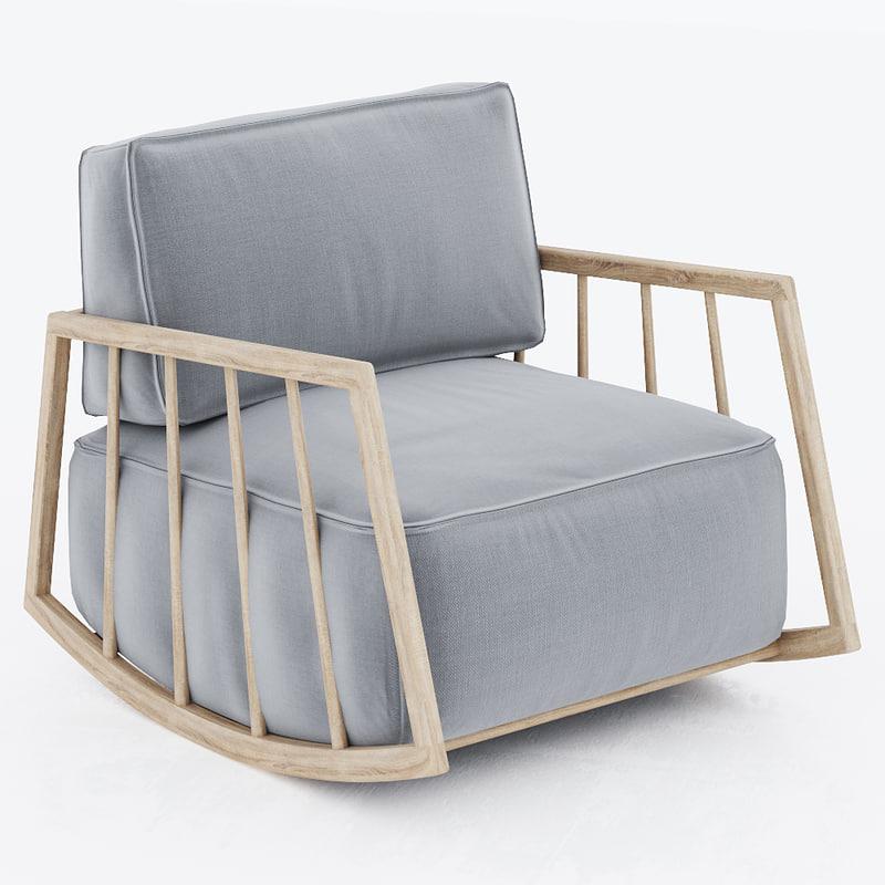 rocking chair 3d max