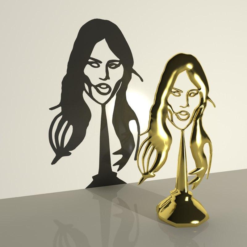 3d model melania trump trophy