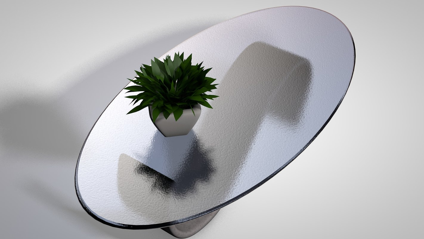 3d model coffee table plant