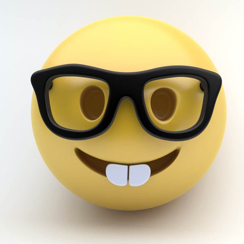 3d model emoji nerd