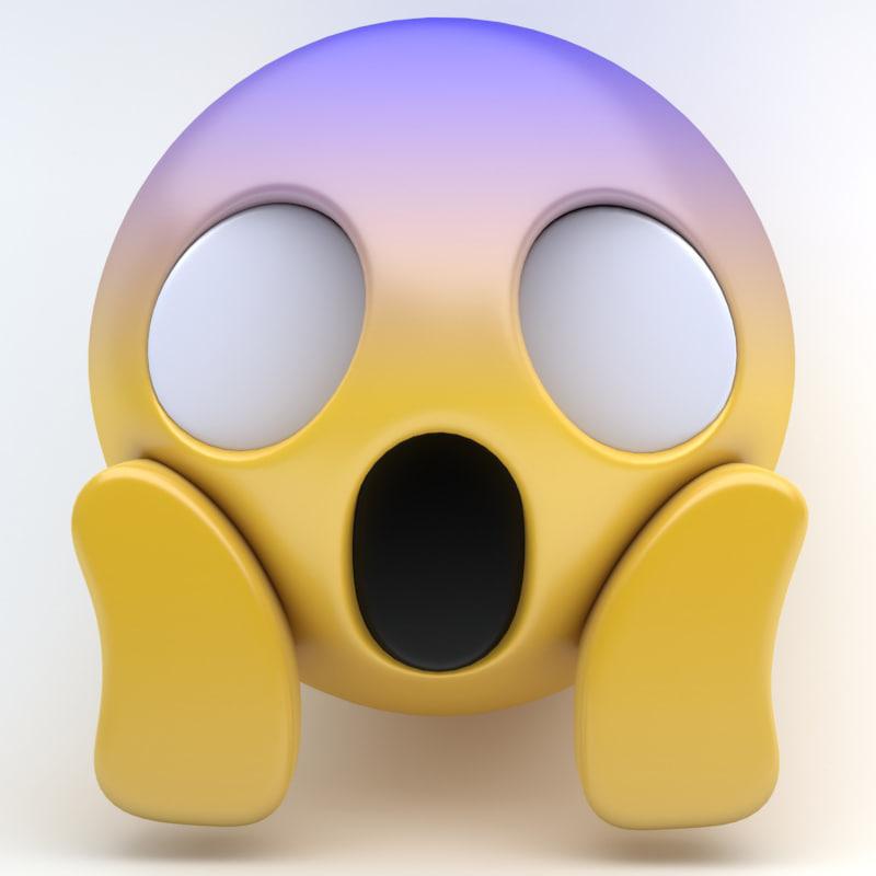 3d emoji scream