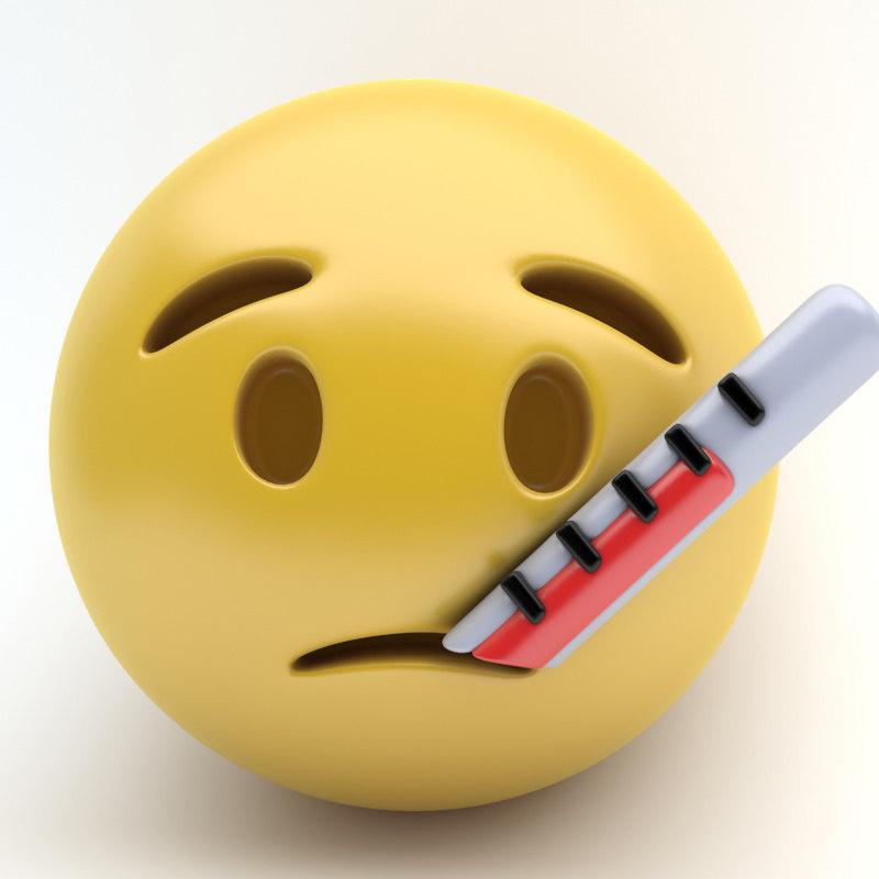 3d emoji thermometer
