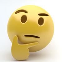 3d emoji thinking model