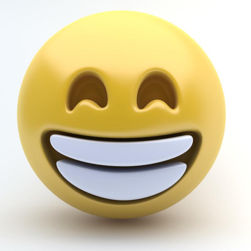 3d model emoji happy