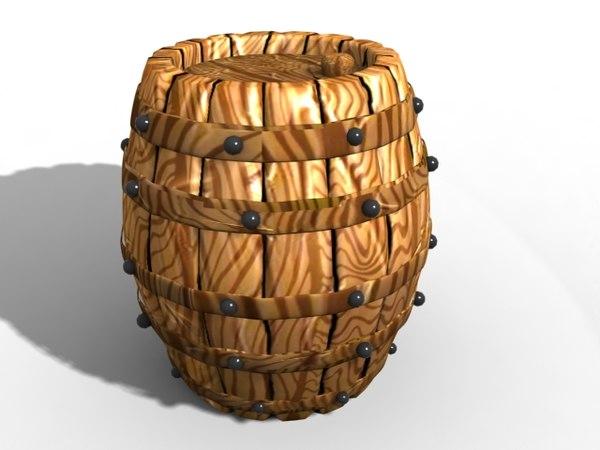 barrel cartoon 3d max