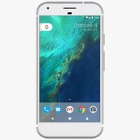 3d model google pixel xl silver